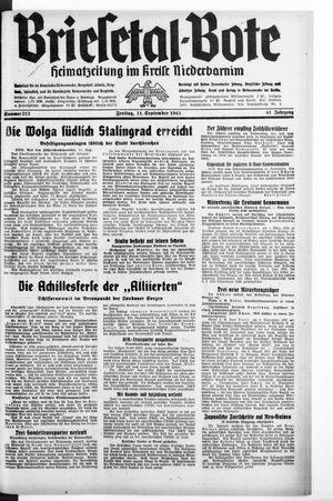 Briesetal-Bote vom 11.09.1942