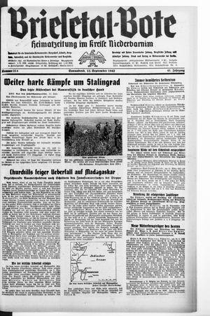 Briesetal-Bote on Sep 12, 1942