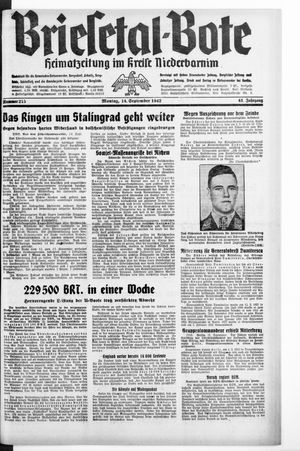 Briesetal-Bote vom 14.09.1942