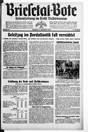 Briesetal-Bote on Sep 15, 1942