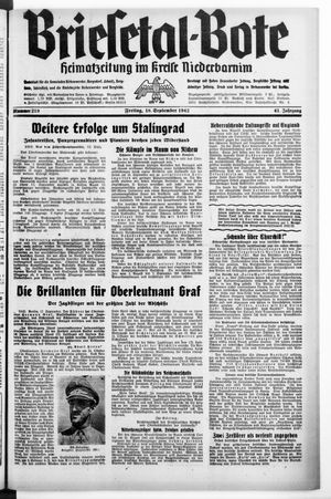 Briesetal-Bote vom 18.09.1942