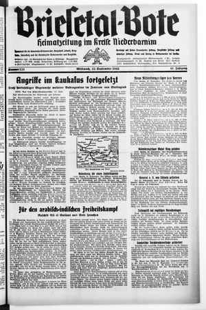 Briesetal-Bote vom 23.09.1942