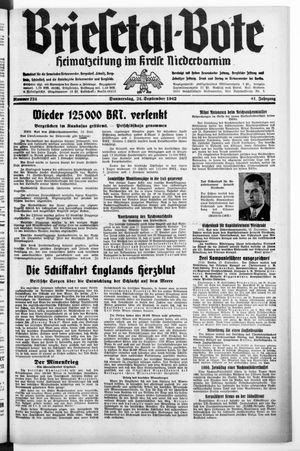 Briesetal-Bote vom 24.09.1942