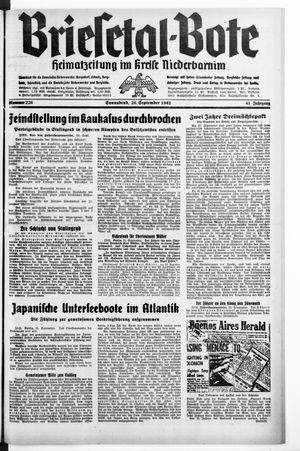 Briesetal-Bote vom 26.09.1942