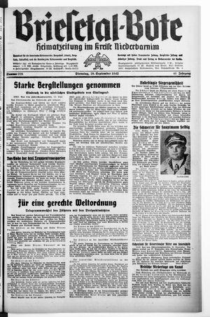 Briesetal-Bote vom 29.09.1942