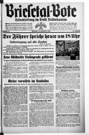 Briesetal-Bote vom 30.09.1942