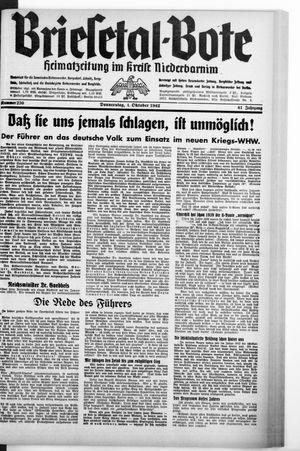 Briesetal-Bote vom 01.10.1942