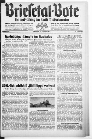 Briesetal-Bote vom 07.10.1942