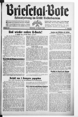 Briesetal-Bote vom 14.10.1942