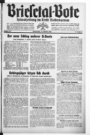 Briesetal-Bote vom 15.10.1942
