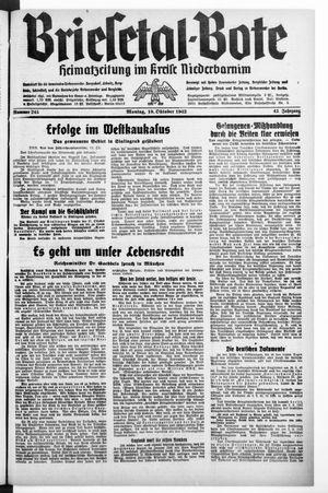 Briesetal-Bote vom 19.10.1942
