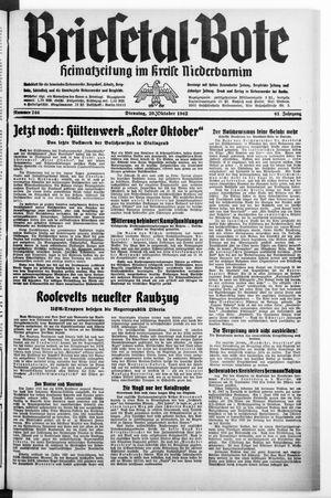 Briesetal-Bote vom 20.10.1942