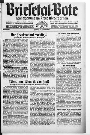 Briesetal-Bote vom 23.10.1942