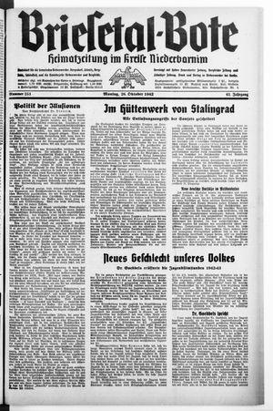 Briesetal-Bote vom 26.10.1942