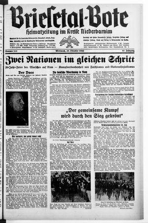 Briesetal-Bote vom 28.10.1942