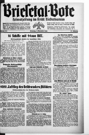 Briesetal-Bote vom 03.11.1942