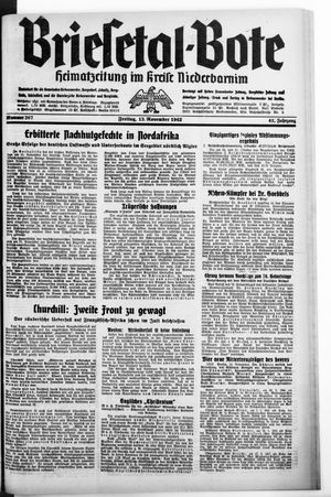 Briesetal-Bote vom 13.11.1942