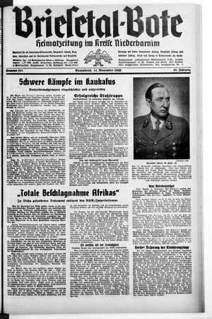 Briesetal-Bote vom 14.11.1942