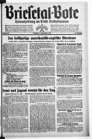 Briesetal-Bote vom 16.11.1942