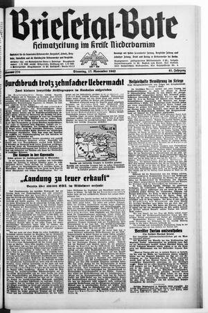 Briesetal-Bote vom 17.11.1942