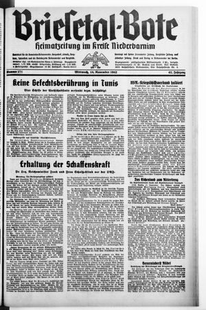 Briesetal-Bote vom 18.11.1942