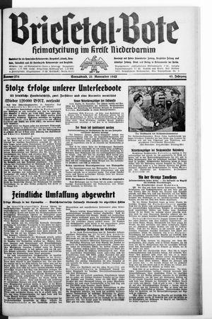 Briesetal-Bote vom 21.11.1942
