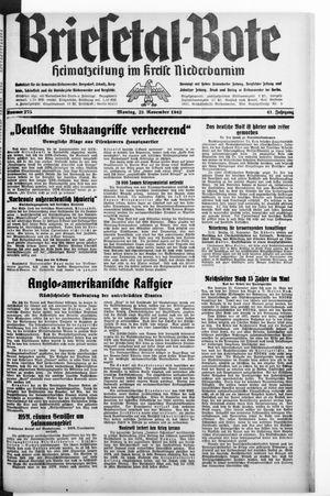 Briesetal-Bote vom 23.11.1942