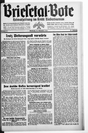 Briesetal-Bote vom 25.11.1942