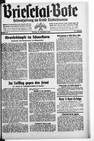 Briesetal-Bote vom 27.11.1942
