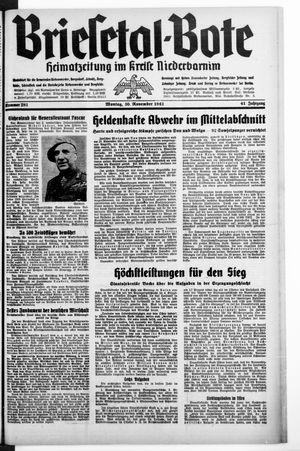 Briesetal-Bote vom 30.11.1942