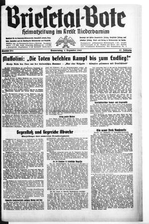 Briesetal-Bote vom 03.12.1942