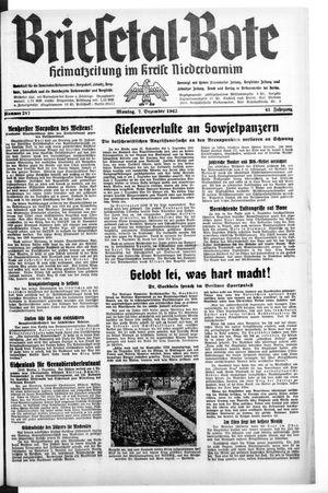 Briesetal-Bote vom 07.12.1942