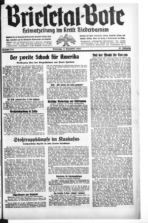 Briesetal-Bote vom 08.12.1942