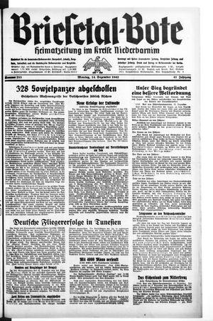 Briesetal-Bote vom 14.12.1942