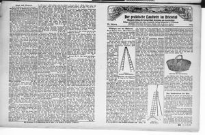 ˜Derœ praktische Landwirt im Briesetal vom 04.09.1926