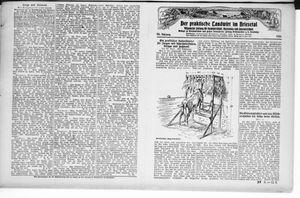 ˜Derœ praktische Landwirt im Briesetal vom 11.09.1926