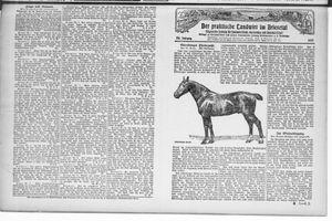 ˜Derœ praktische Landwirt im Briesetal vom 05.02.1927