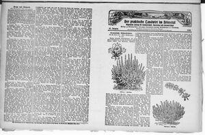 ˜Derœ praktische Landwirt im Briesetal vom 10.05.1928
