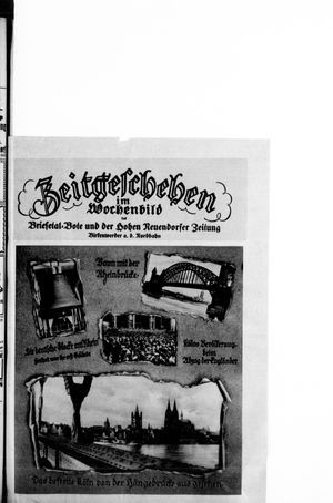 Zeitgeschehen im Wochenbild vom 14.02.1926