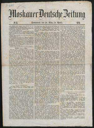 Moskauer deutsche Zeitung vom 09.04.1870