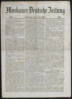 Moskauer deutsche Zeitung on Apr 14, 1870
