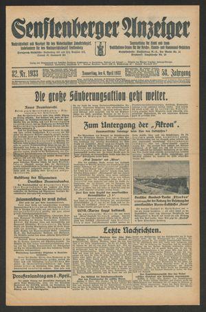 Senftenberger Anzeiger on Apr 6, 1933