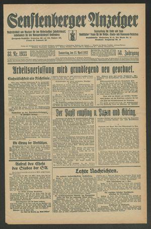 Senftenberger Anzeiger vom 13.04.1933