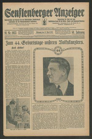 Senftenberger Anzeiger vom 19.04.1933