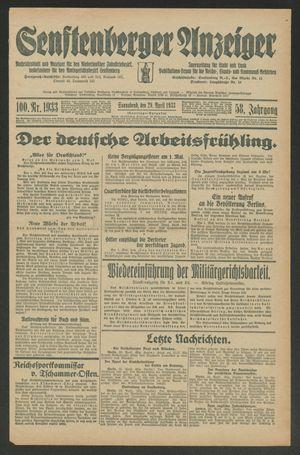 Senftenberger Anzeiger on Apr 29, 1933