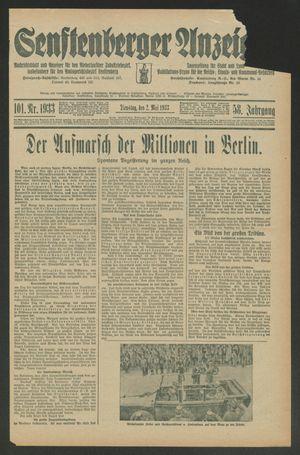 Senftenberger Anzeiger vom 02.05.1933