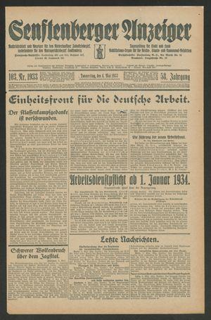 Senftenberger Anzeiger vom 04.05.1933