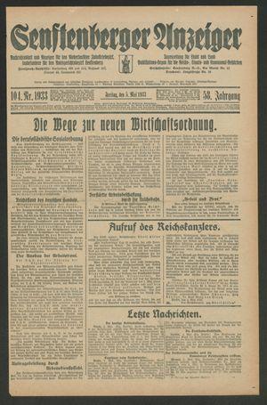 Senftenberger Anzeiger vom 05.05.1933