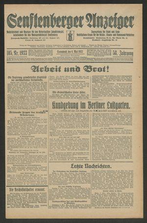 Senftenberger Anzeiger vom 06.05.1933