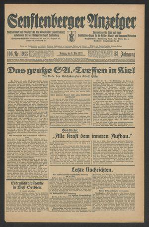 Senftenberger Anzeiger vom 08.05.1933
